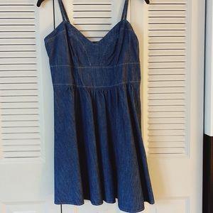 Express Denim Short Dress, Size Medium